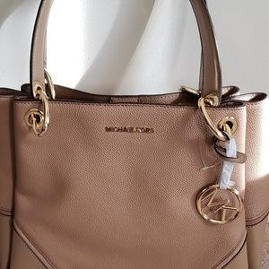 Michael Kors pebble leather handbag